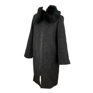 Zara Black Wool Blend Coat